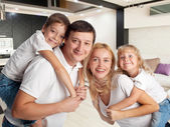 rodina doma