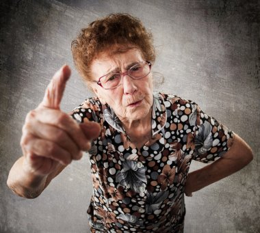 Scolded the old woman