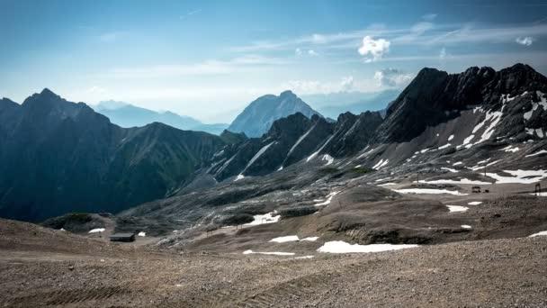 Pohled z vrcholu Zugspitze time-lapse