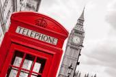 Fotografie telefonní budka. Londýn, Velká Británie