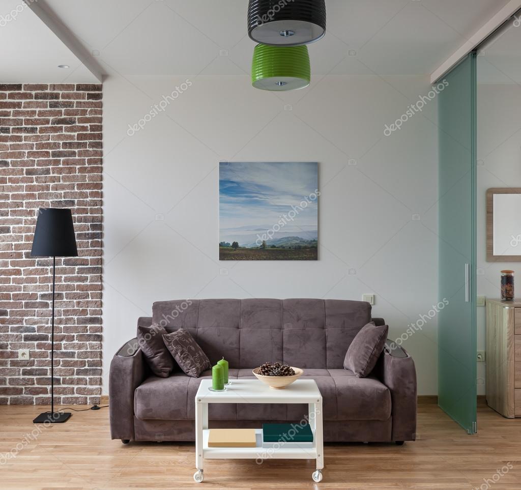 interieur van modern appartement in scandinavische stijl stockfoto