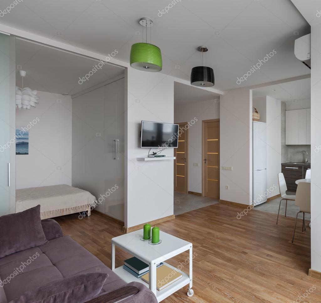 Interior of modern apartment in scandinavian style