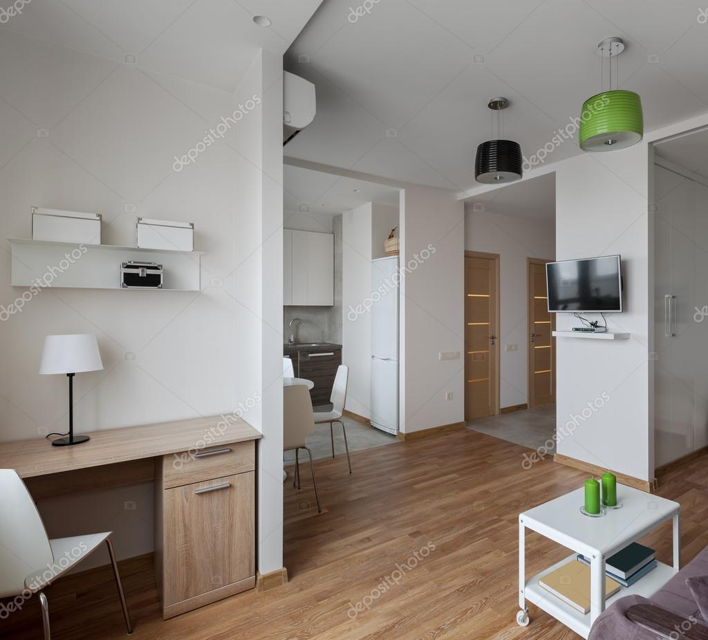 Interieur van modern appartement in Scandinavische stijl — Stockfoto ...