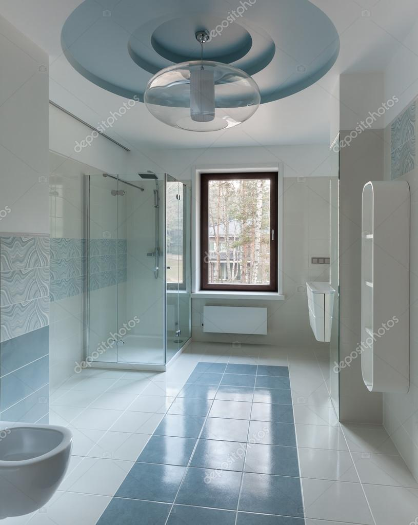 Luxury restroom interior — Stock Photo © YegorP #63580795