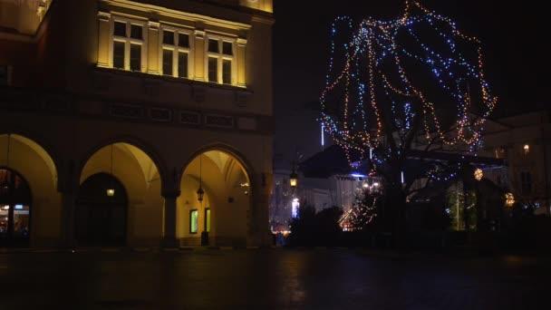 Christmas market, main square of Krakow, Poland.