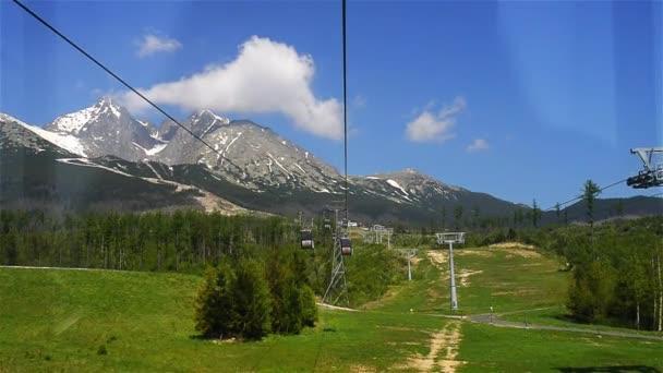 Výtah na Lomnickým štítem ve Vysokých Tatrách. Tatrách, Tatry nebo Tatra, jsou pohoří, které tvoří přirozenou hranici mezi Slovenskem a Polskem
