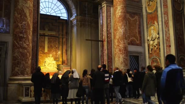 ROME, ITALY - JANUARY 28 2015: The Papal Basilica of St. Peter in the Vatican, or simply St. Peters Basilica, is an Italian Renaissance church in Vatican City, the papal enclave within city of Rome.