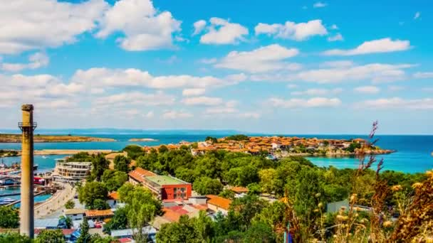 Timelapse 4k: Sozopol is an ancient seaside town located 35 km south of Burgas on the southern Bulgarian Black Sea Coast. Today it is one of the major seaside resorts in the country.