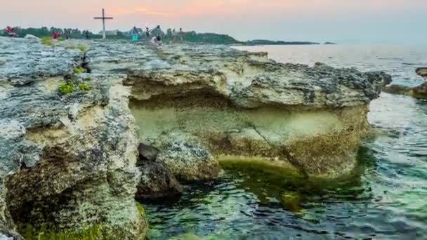 TSAREVO, BULGARIA - JULY 29 2016: Timelapse Tsarevo (Vasiliko, Michurin) is a town and seaside resort in southeastern Bulgaria, an centre of homonymous Municipality of Tsarevo in Burgas Province.
