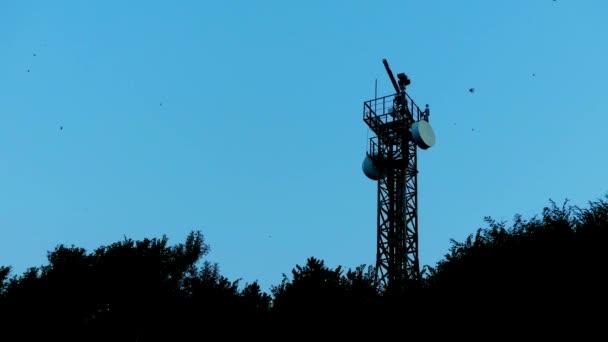 TSAREVO, BULGARIA - JULY 29 2016: Radar installation. Tsarevo (Vasiliko, Michurin) is a town and seaside resort in southeastern Bulgaria, an centre of Municipality of Tsarevo in Burgas Province.