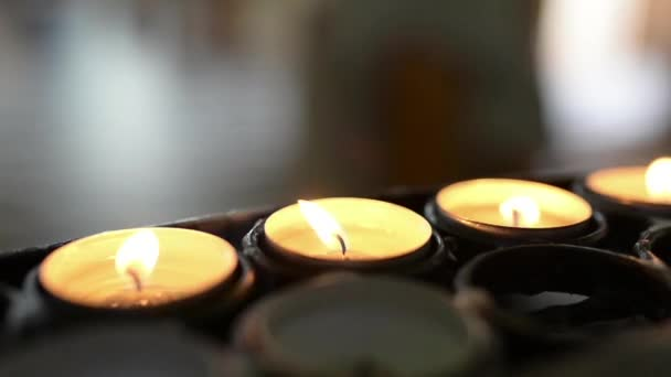 Small candle burning