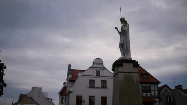 Statue of Christ about Church of Sts. John the Baptist in Pisz