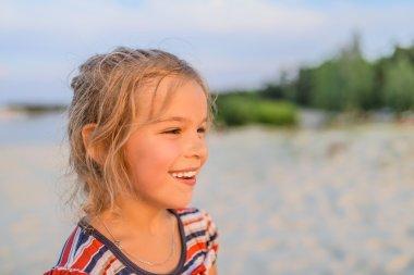 Beautiful smiling little girl