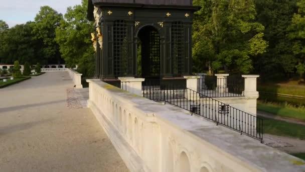 laťových altán poblíž paláce Branických v Bialystoku