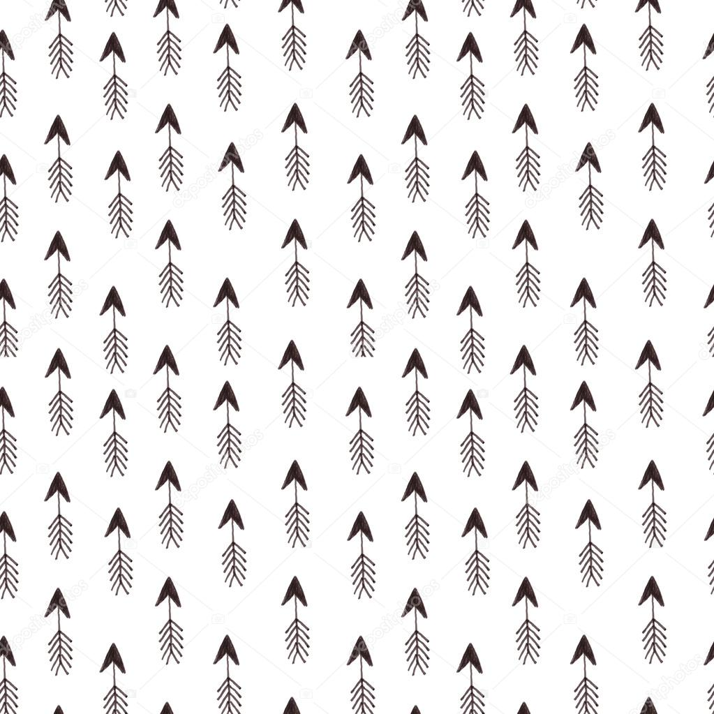 Hipster pattern with arrows