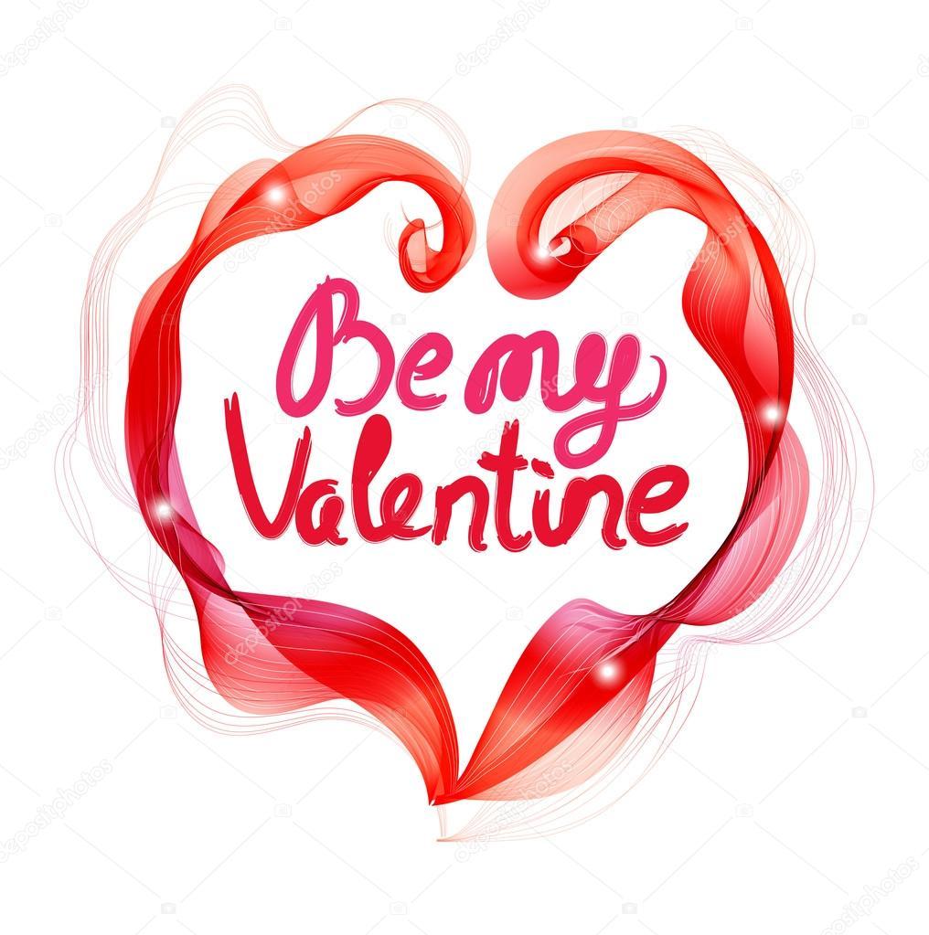 Schönen Valentinstag Hintergrund Mit Abstrakt Farbe Herz Und T