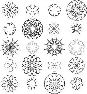stencils flowers
