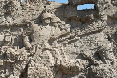Great war's scenes on the wall