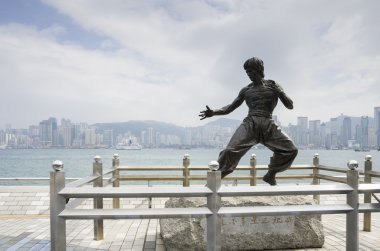 The statue of Bruce Lee