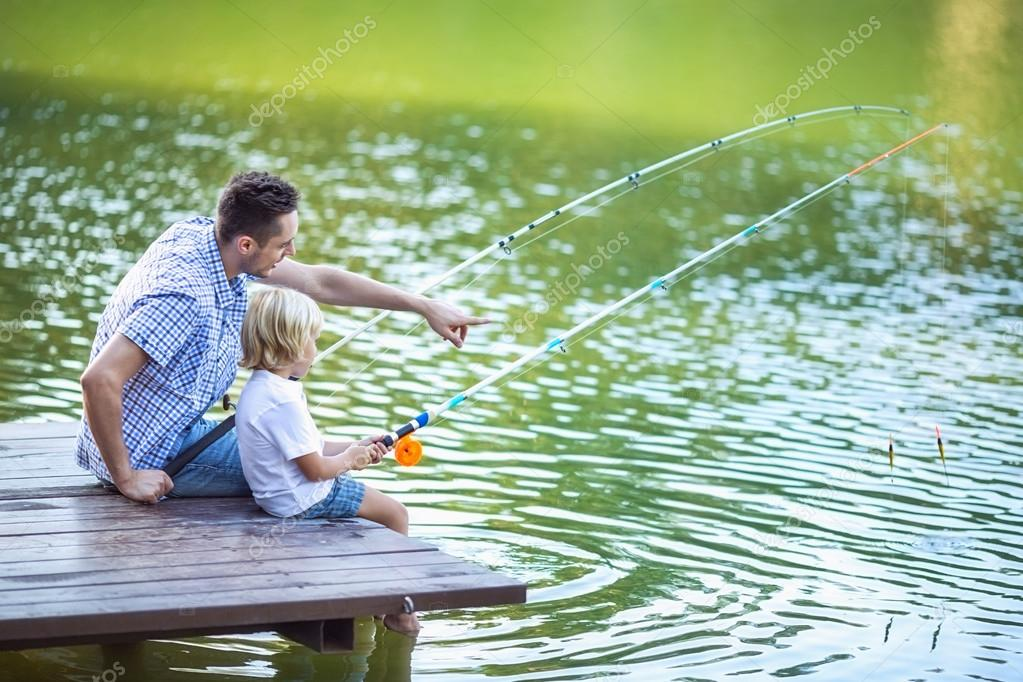 Fishing at lake
