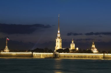 Paul and Peter fortress in Night