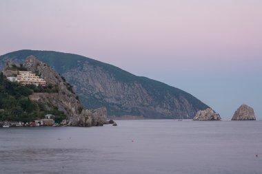 Gurzuf and Ayu Dag mountain. Crimea.