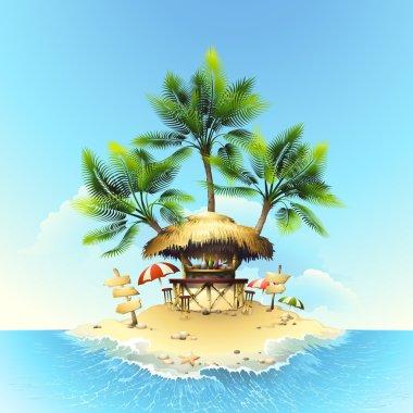 Tropical bungalow bar