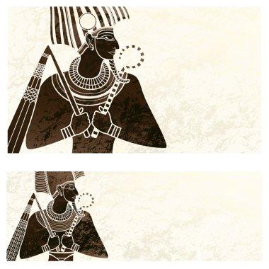 banner ,osiris ancient egypt flyer