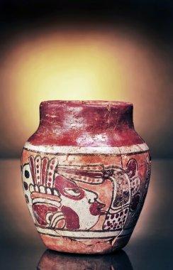 Pre Columbian Warrior Vase.