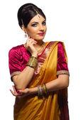 Indische Frau isoliert