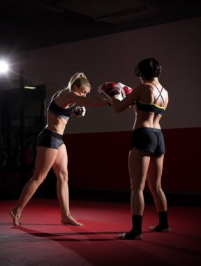 Two kickboxers women