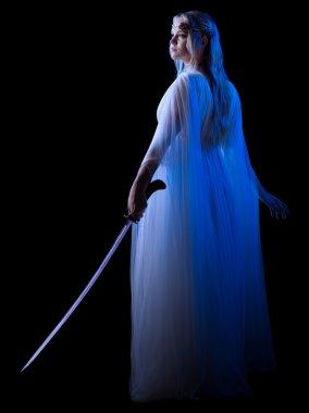 Elven girl with sword