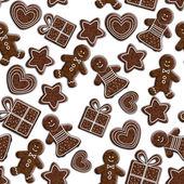 varrat nélküli mintát a mézeskalács cookie-kat, elszigetelt, felett fehér