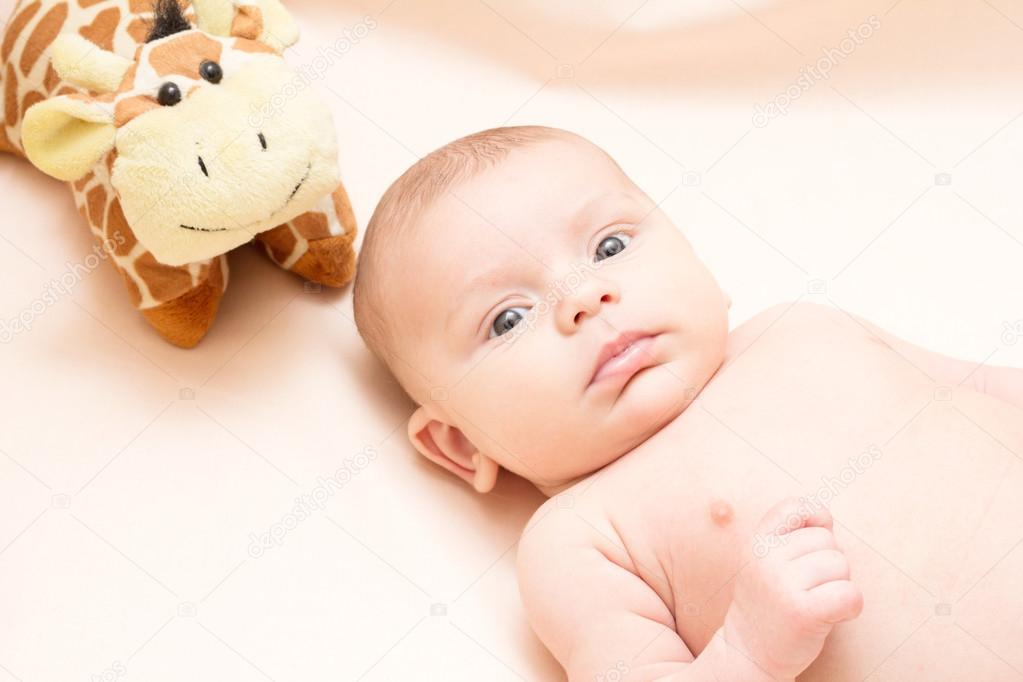 peluche bebe 2 meses