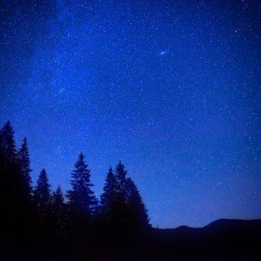 Dark blue night sky