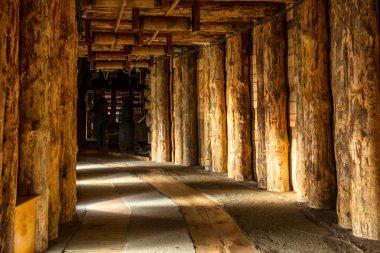 Underground corridor in Wieliczka