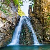 Fotografie Beautiful waterfall in forest
