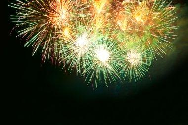 Festive Colorful fireworks