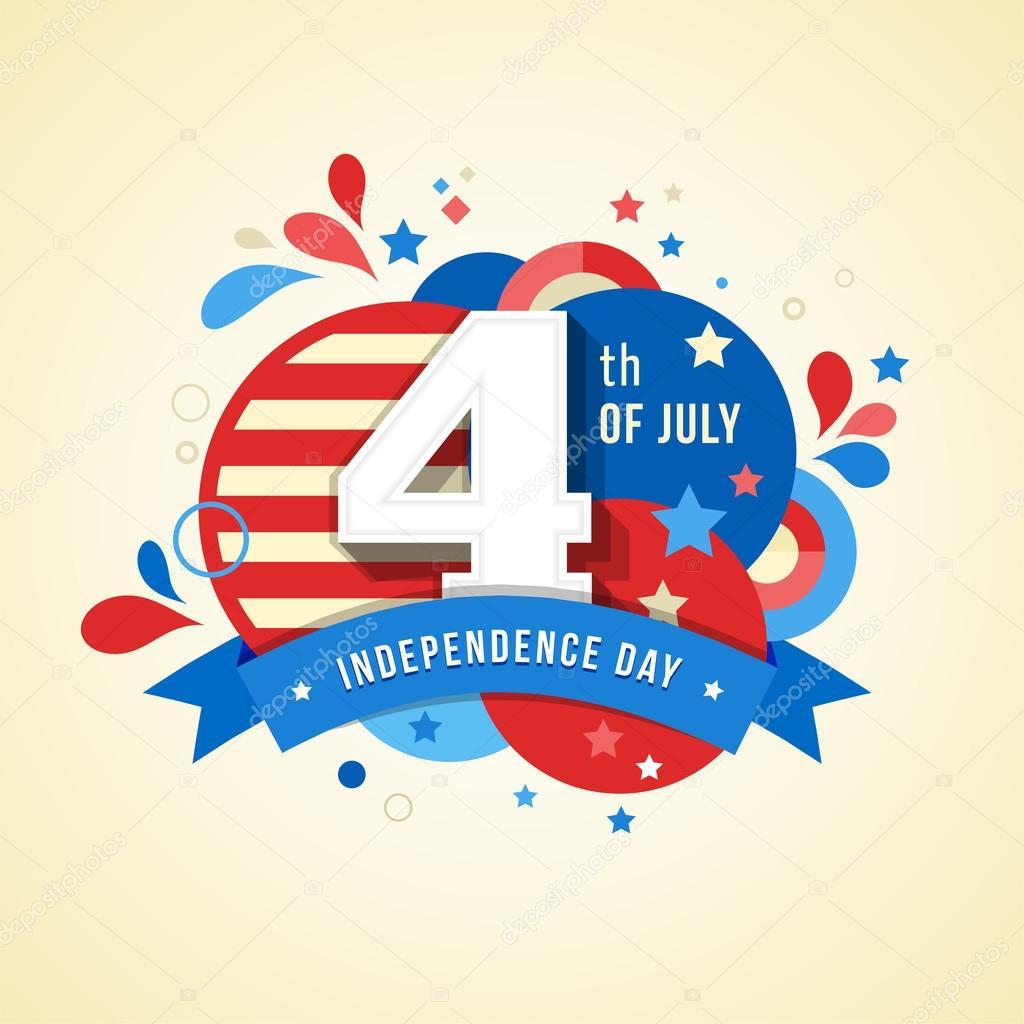 Cart o de feliz dia da independ ncia dos estados unidos 4 for What does the 4th of july mean