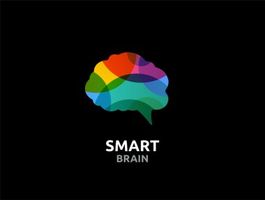 Brain, Creative mind, man head, learning and design icon
