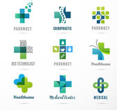 Fotografie medical, healthcare and pharmacy icons