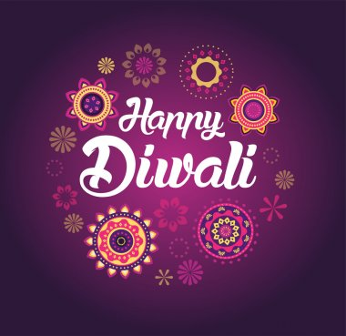 Happy Diwali greeting card for Hindu community, Indian festival, background illustration stock vector
