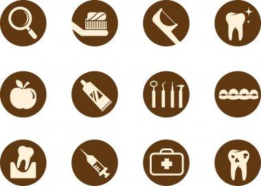 Dental and teeth care icon set