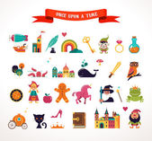 Fotografie Collection of fairy tale elements, icons