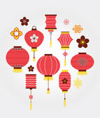 Photo Chinese New Year background with lanterns