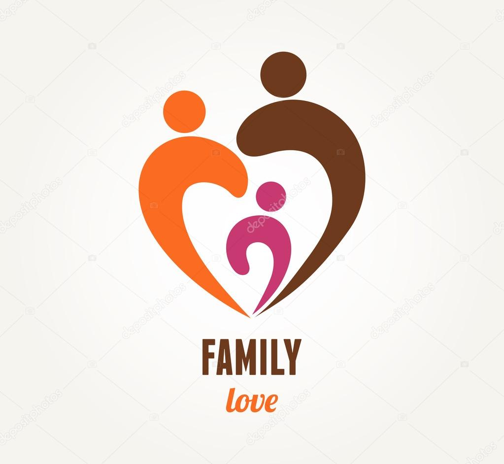 Family love - heart icon and symbol — Stock Vector ...