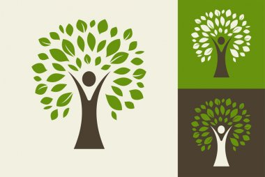 green tree - logo and icon