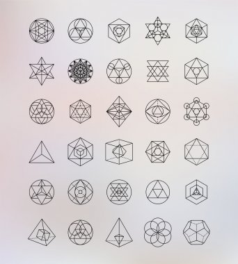 Sacred geometry. Alchemy, religion, philosophy, spirituality, hipster symbols and elements stock vector