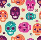 Fotografie Schädelmuster, mexikanischer Tag der Toten