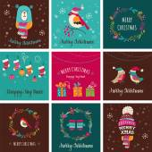 Photo Merry Christmas Design Greeting cards - doodle illustrations